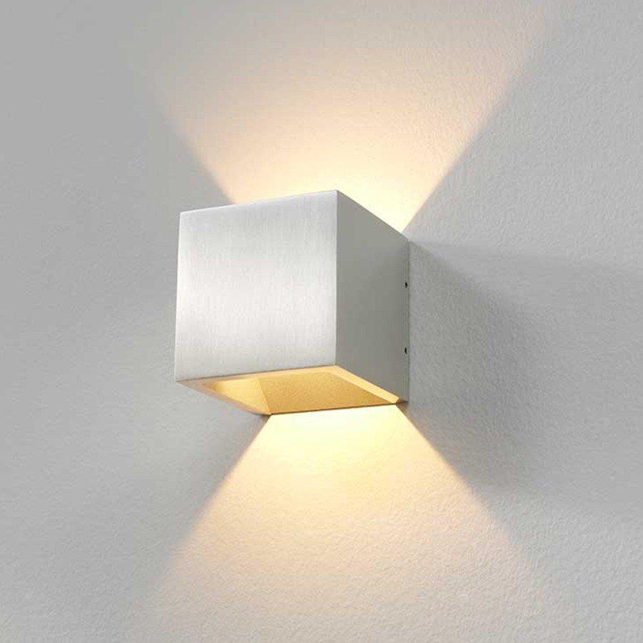 Wandlamp Cube Alu