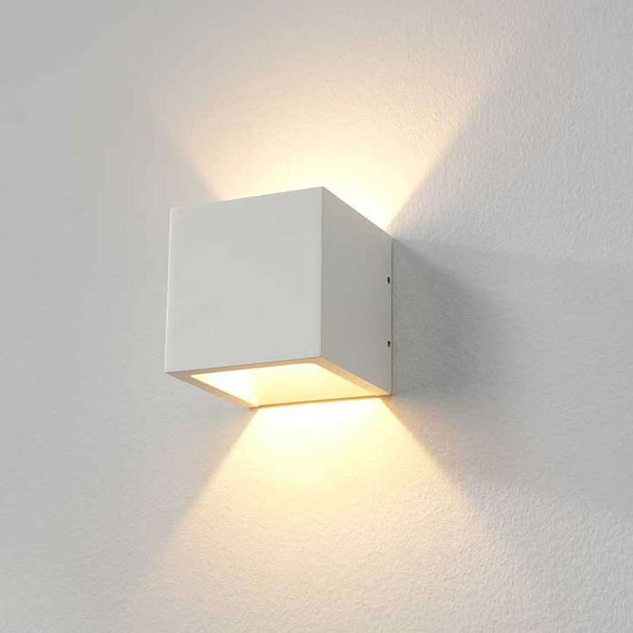 Wandlamp Cube Wit