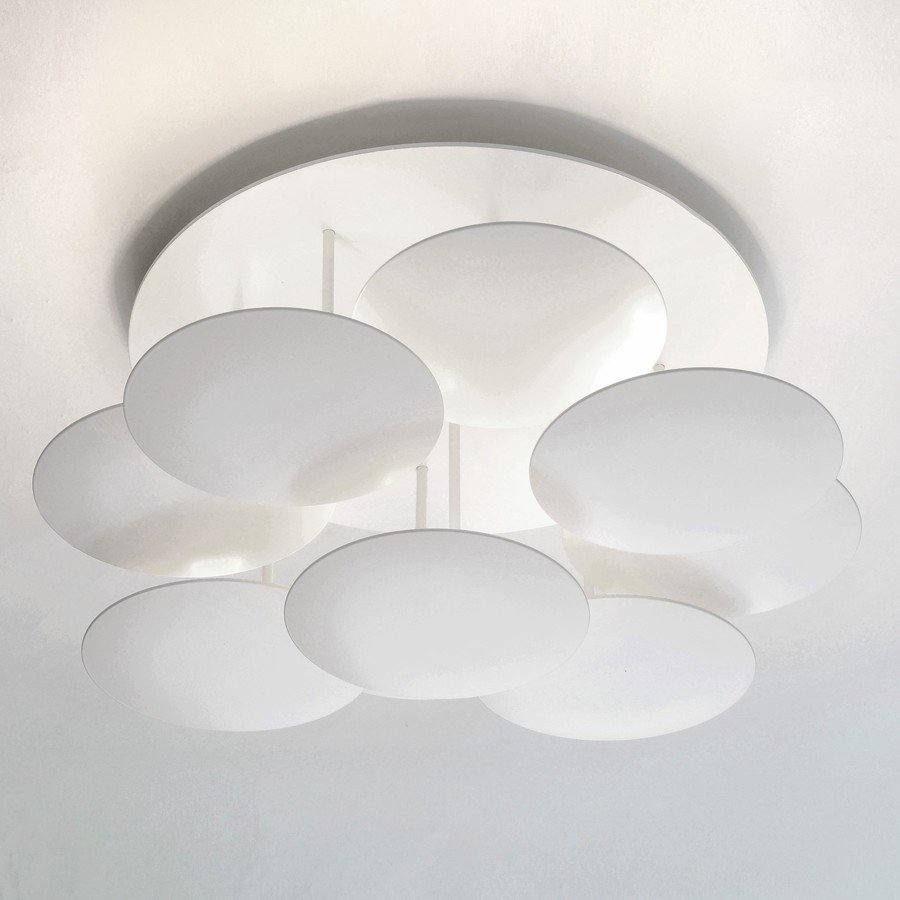 Millelumen Plafondlamp Circles 9 Wit – Bestelpagina