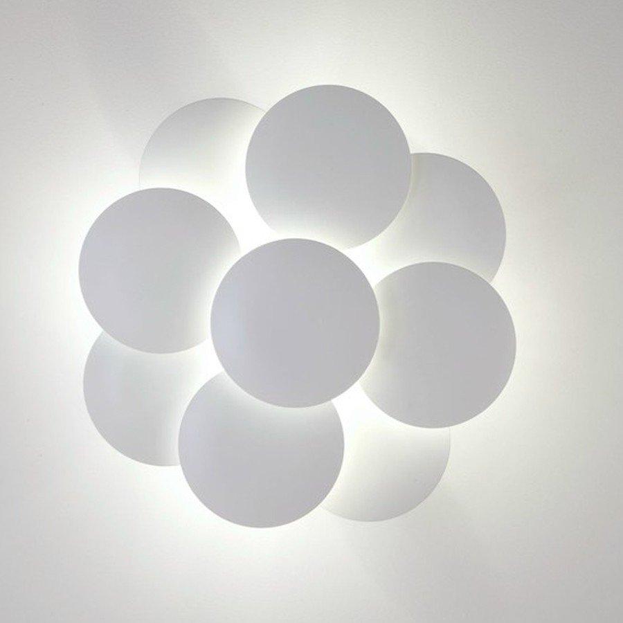 Millelumen Wandlamp Circles 9 Wit