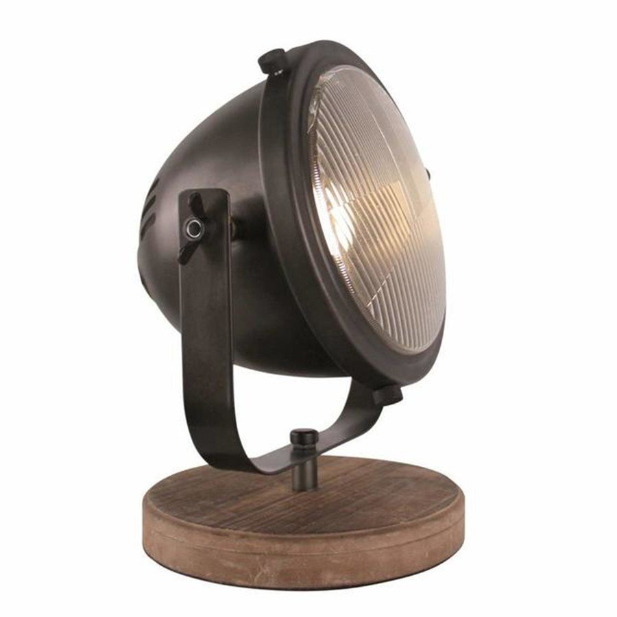 Woody Tafellamp Industrieel Zwart