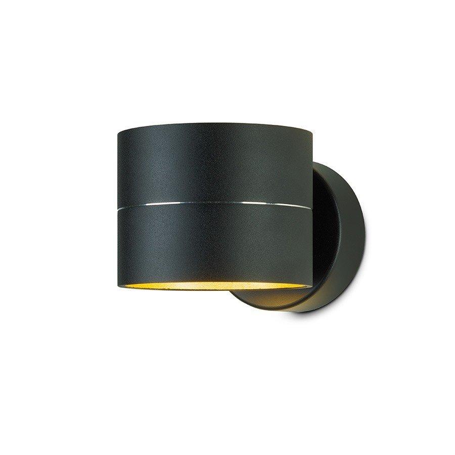 Wandlamp Oligo Tudor Zwart Goud