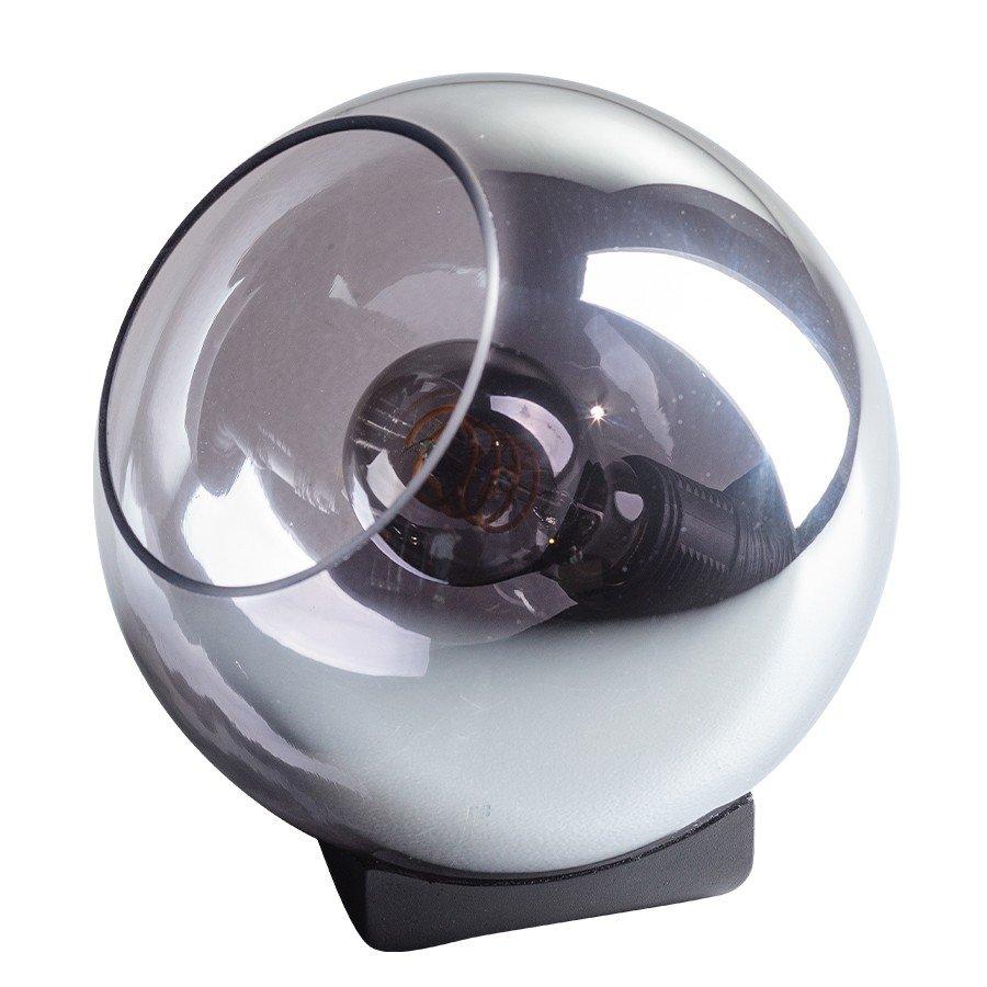 Tafellamp ETH Orb Rookglas 25cm