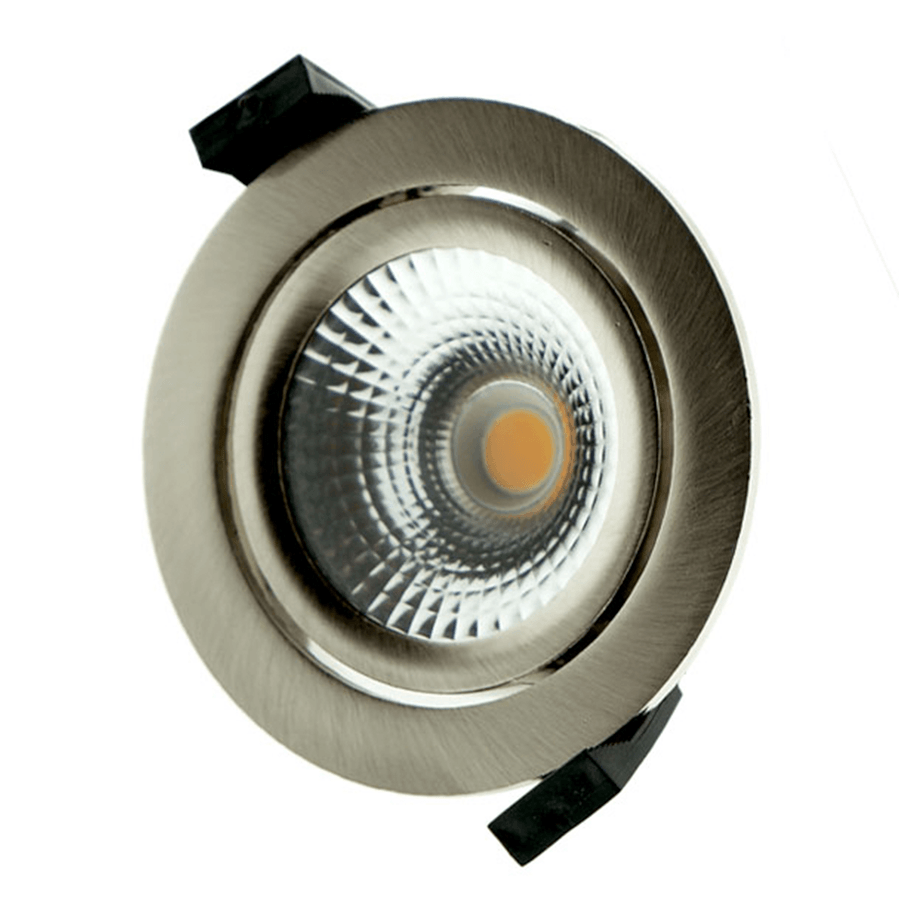 InbouwSpot Star IP54 Geborsteld Aluminium Rond