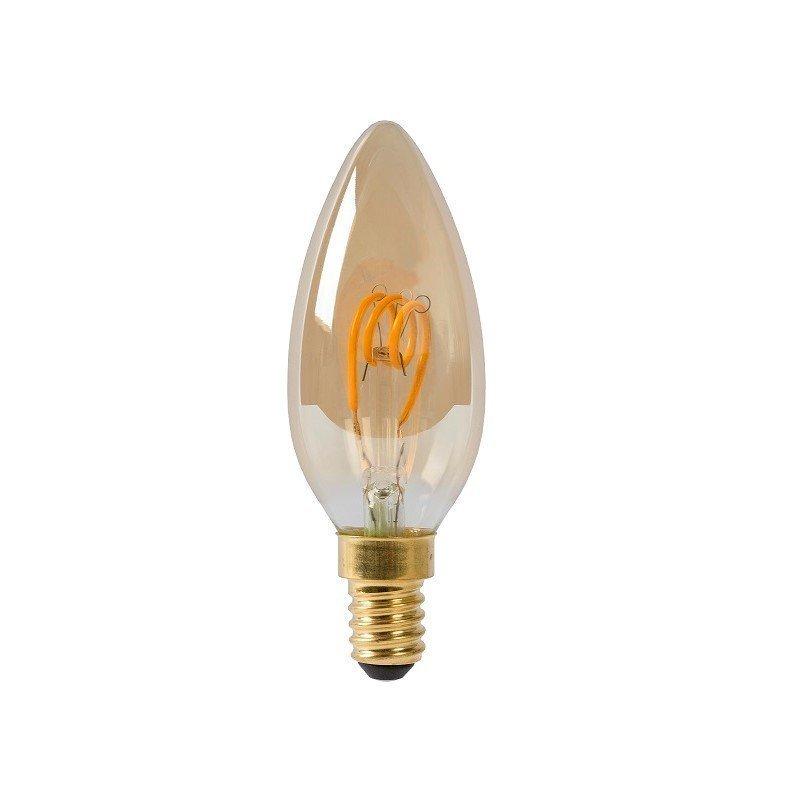 Dimbare Led Lamp Kaars E14 Amberkleur