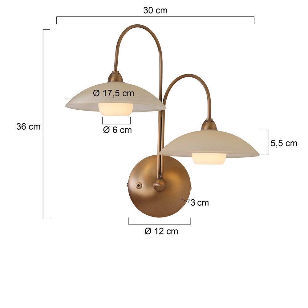 wandlamp brons