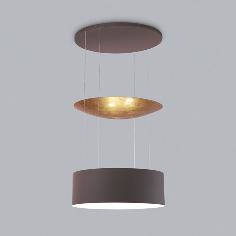 Hanglamp Icone Luce Eclisse Chocolade Bladgoud