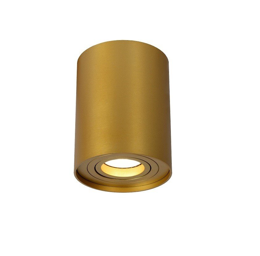 Opbouwspot Lucide Tube Rond Goud