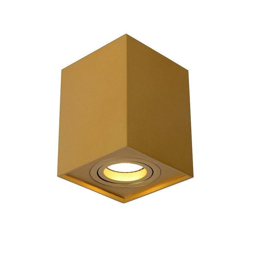 Opbouwspot Lucide Tube Rechthoek Goud
