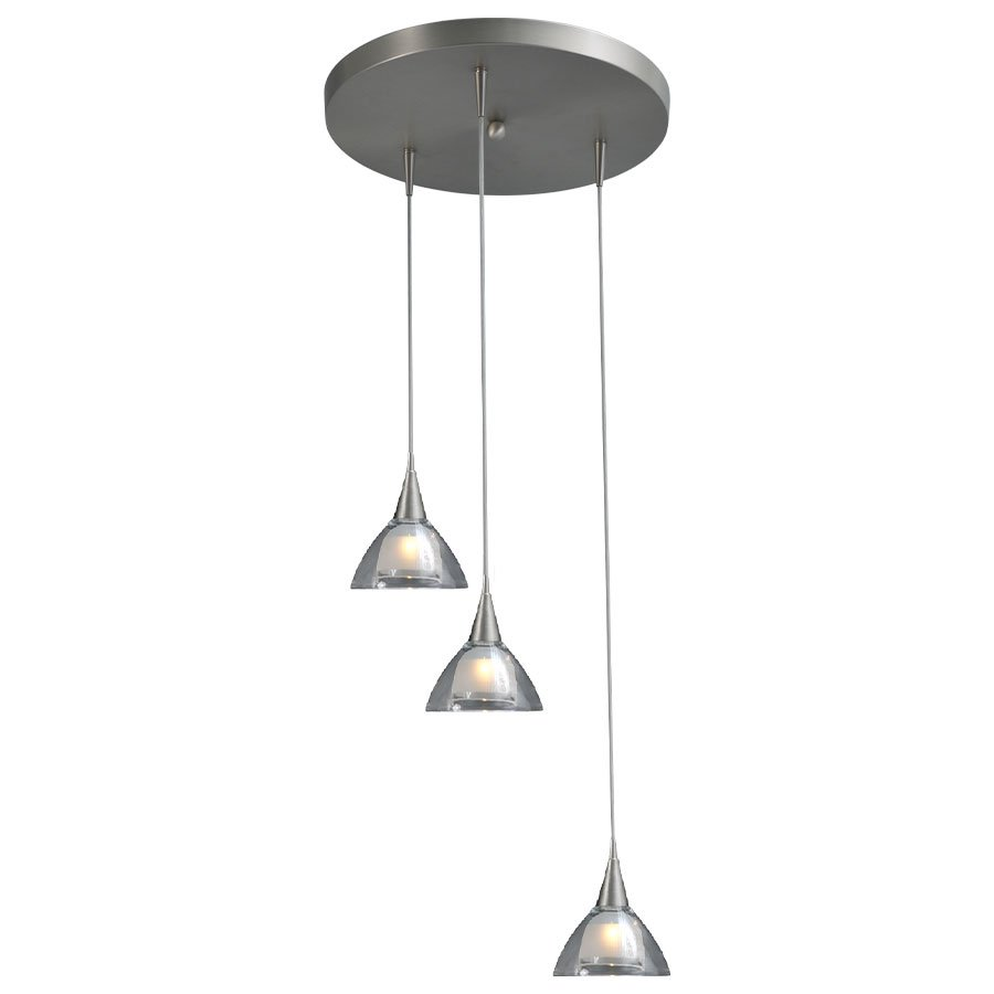 Masterlight Hanglamp Caterina 3Lichts Rond Staal