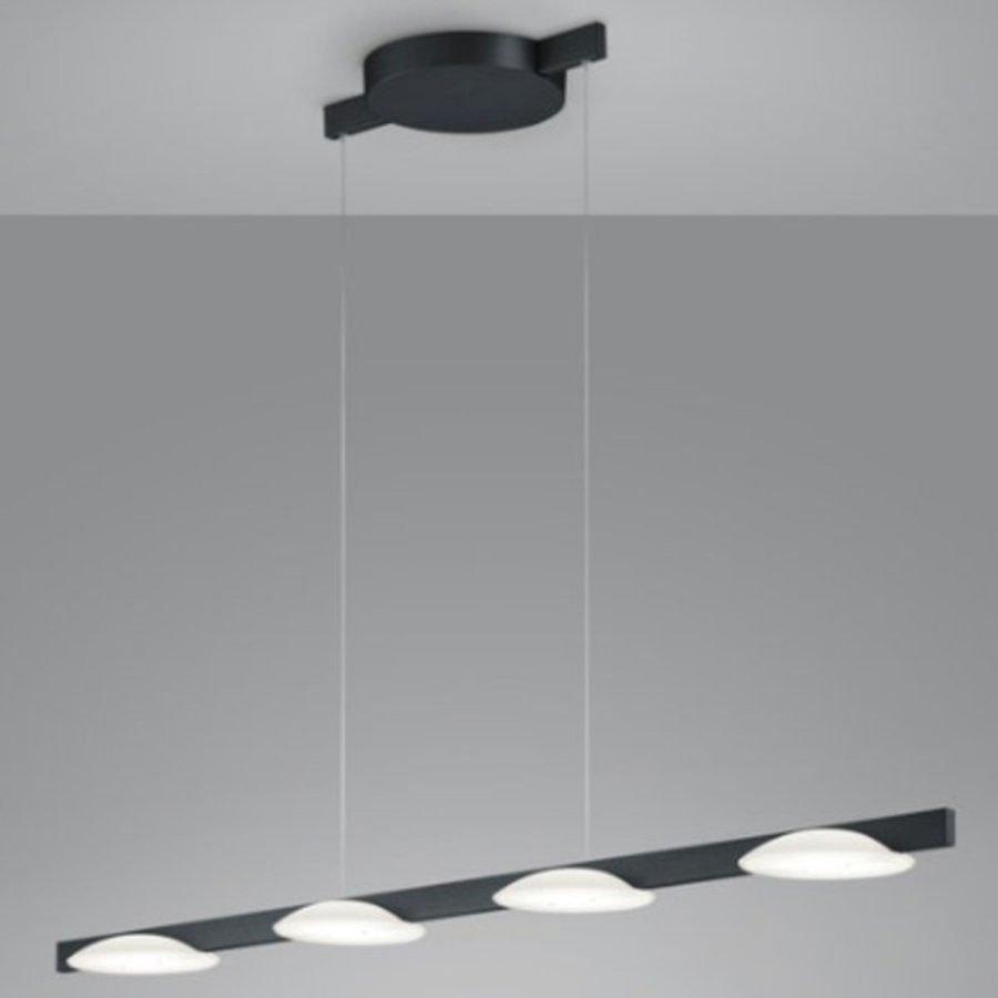Hanglamp Helestra Pole Matzwart 4-lichts