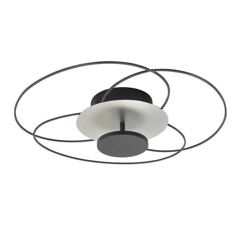 Plafondlamp Highlight Fiore Zwart Staal