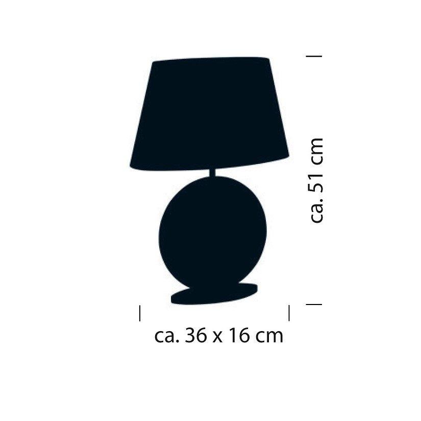 Afmeting tafellamp
