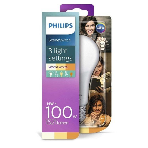 Philips SceneSwitch 3 Standen Lamp Led E27 100w