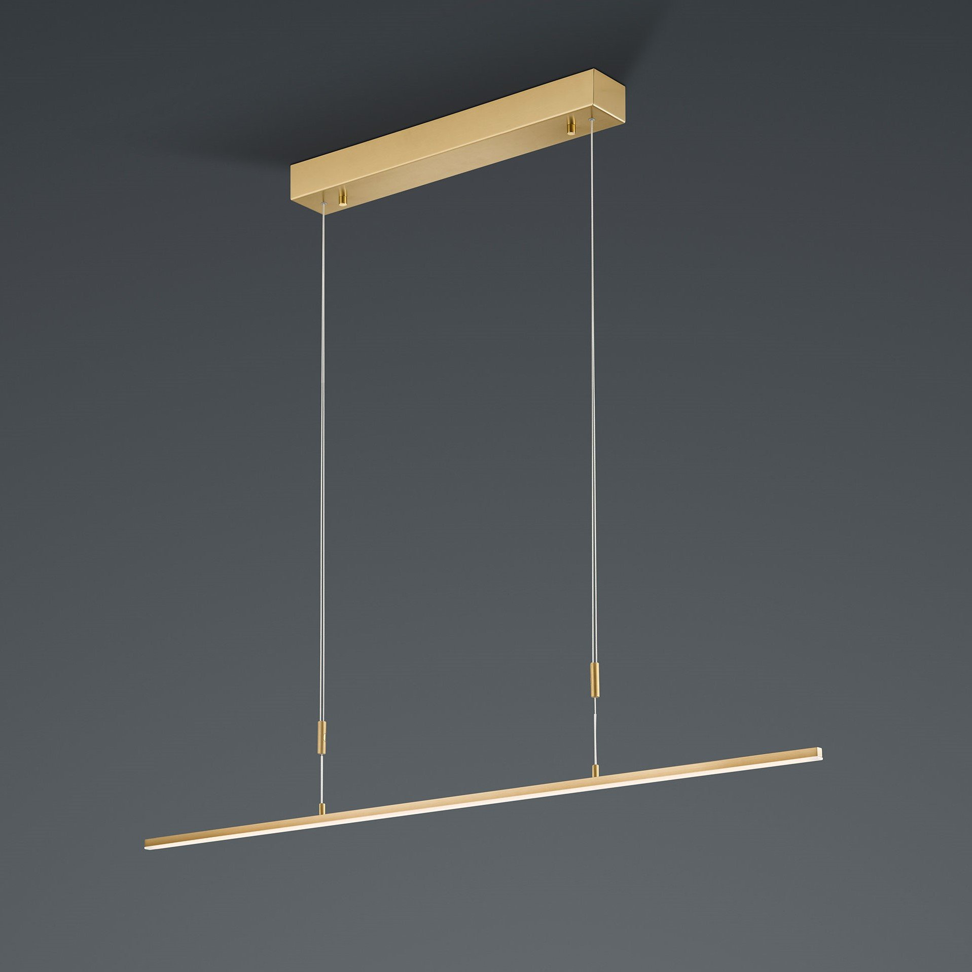 Hanglamp Bankamp Slim Messing Kort