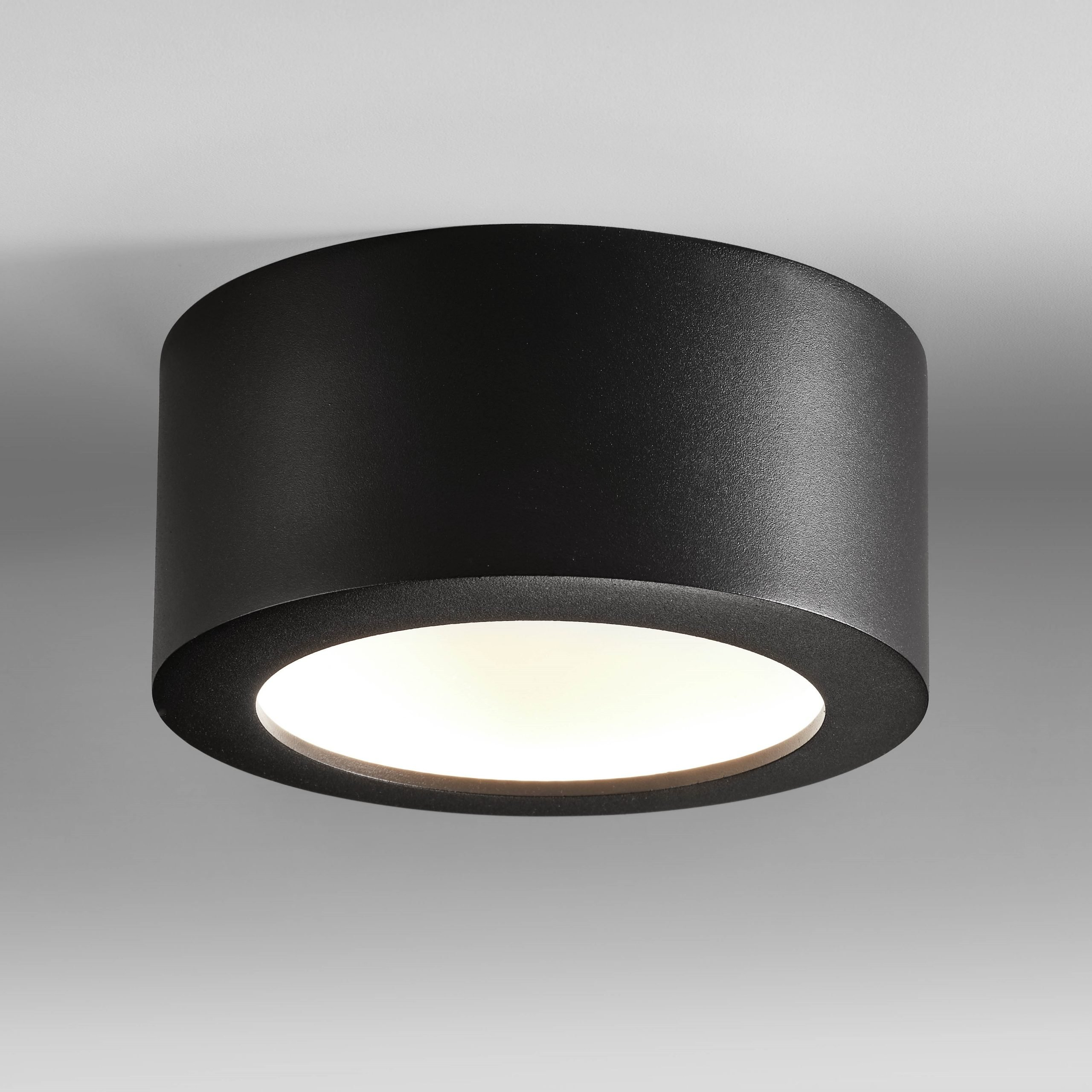 Plafondlamp Bowl Zwart Medium