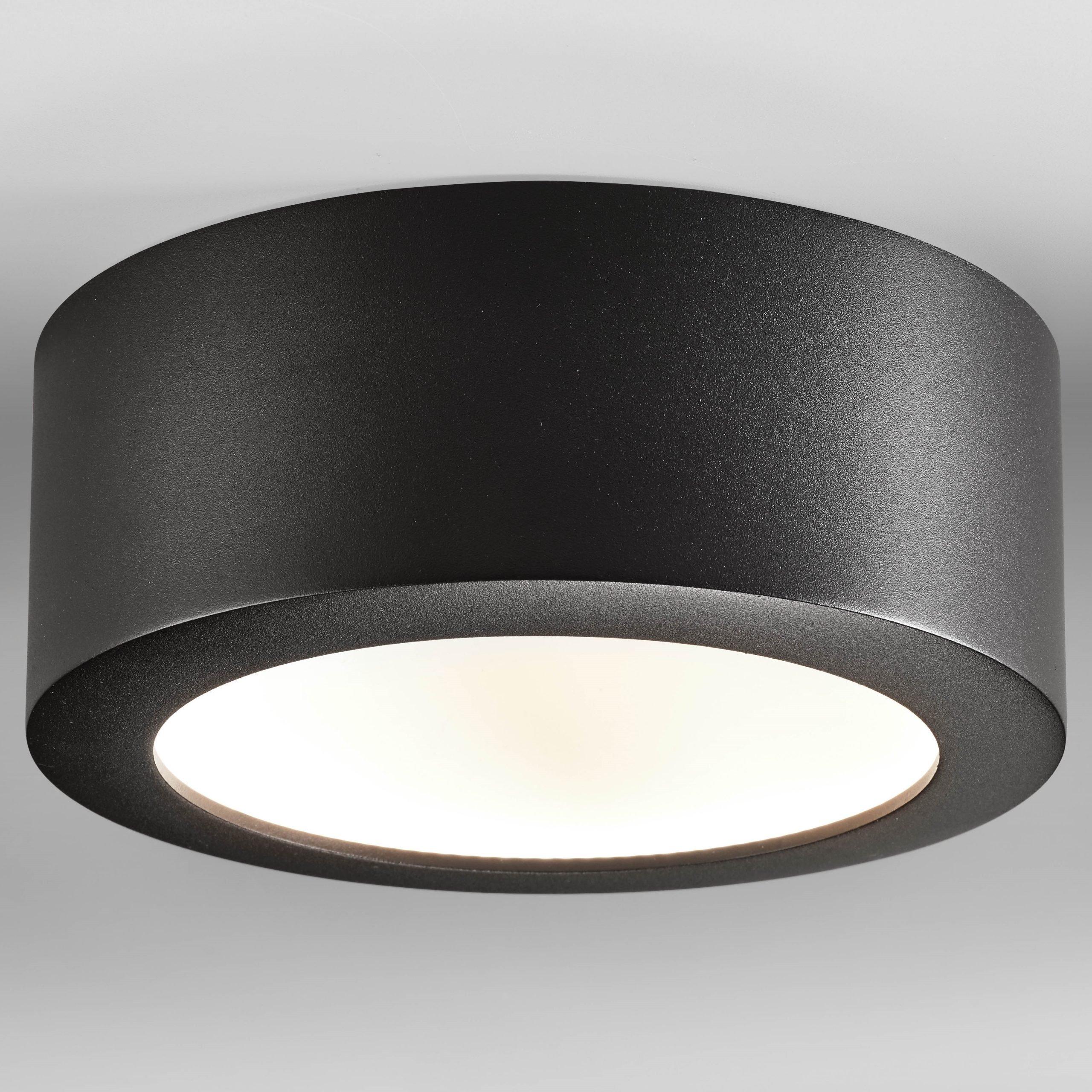 Plafondlamp Bowl Zwart Large