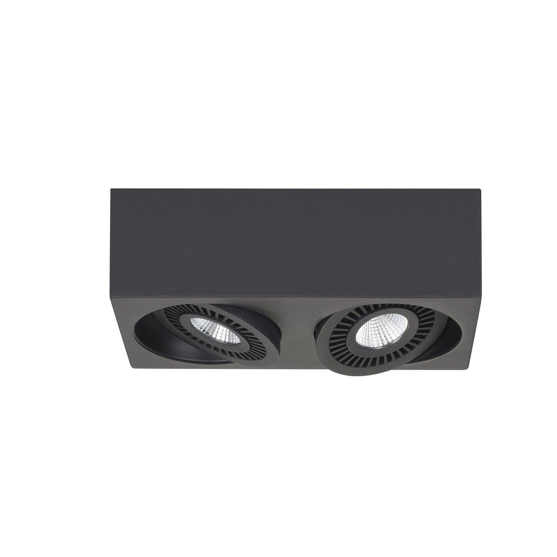 Opbouwspot Highlight Eye Zwart 2 Lichts