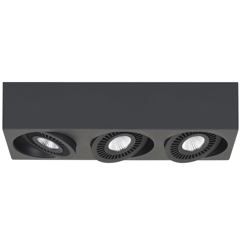 Opbouwspot Highlight Eye Zwart 3 Lichts