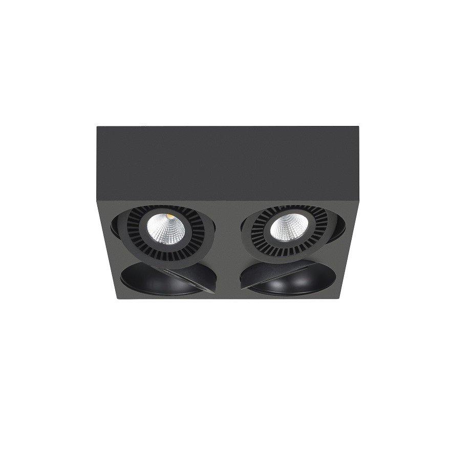 Opbouwspot Highlight Eye Zwart 4 Lichts