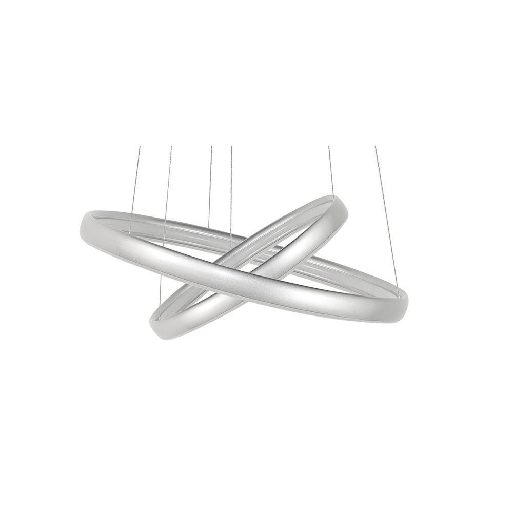Zilveren ringen lamp
