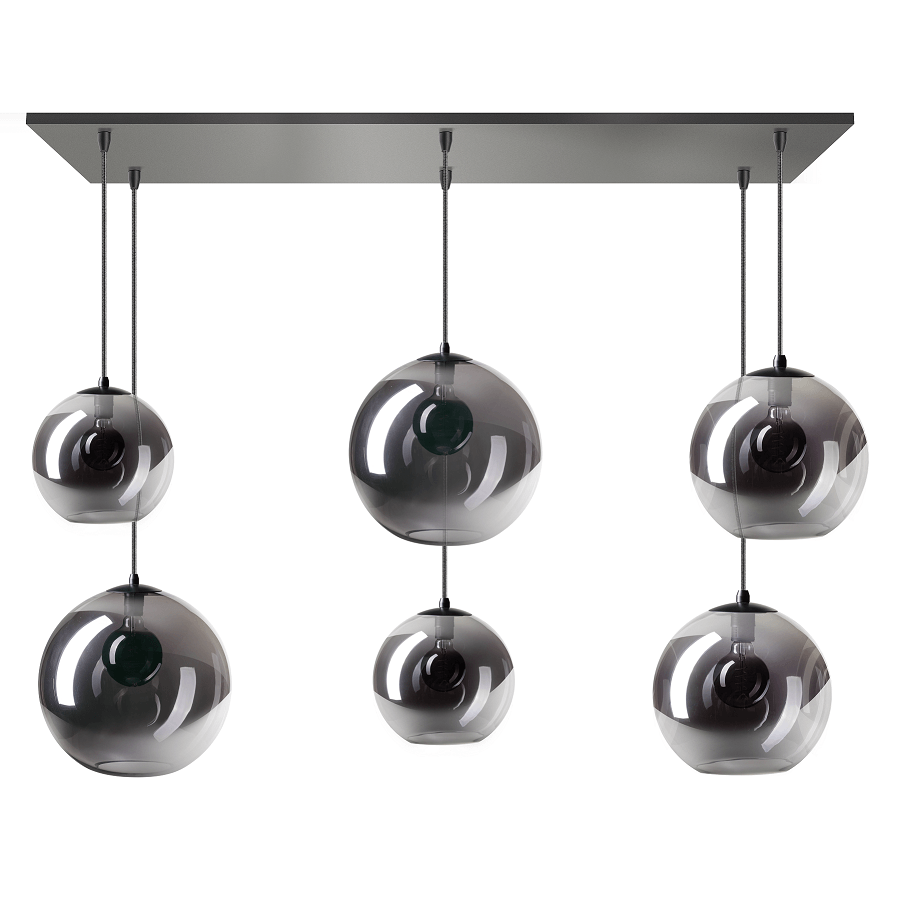 Hippe lamp met verschillende glazen