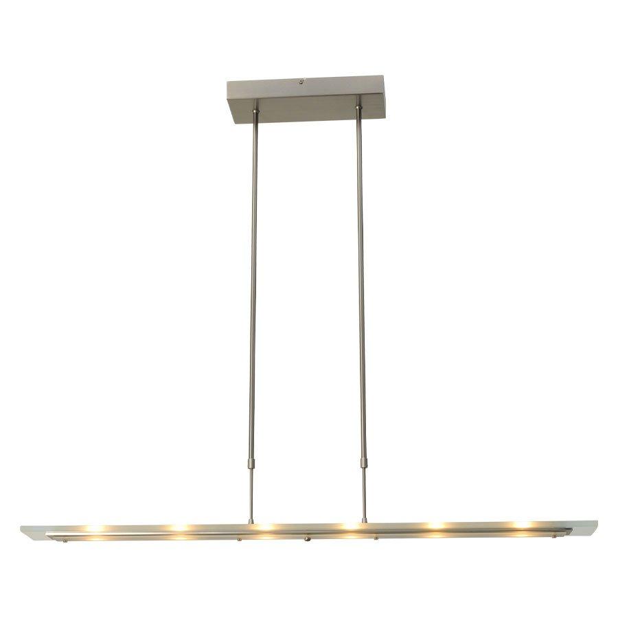Hanglamp Masterlight Vigo 100cm Staal Met Helder Glas