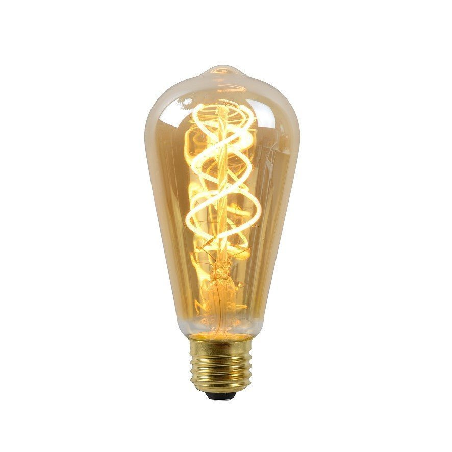 Dimbare Led Lamp ST64 Filament Amberkleur
