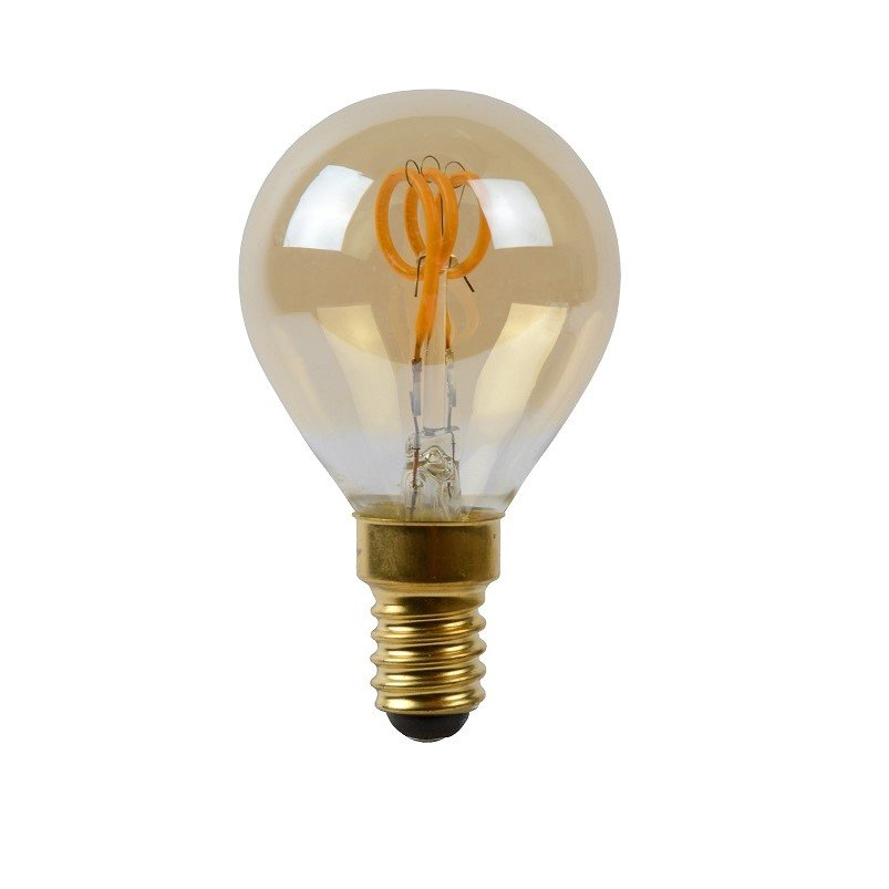 Dimbare Led Lamp Kogel E14 Amberkleur