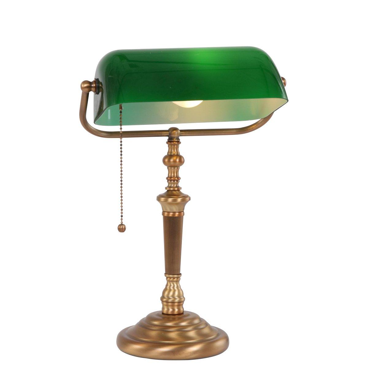 Steinhauer Tafellamp 6185BR Met Groen Glas