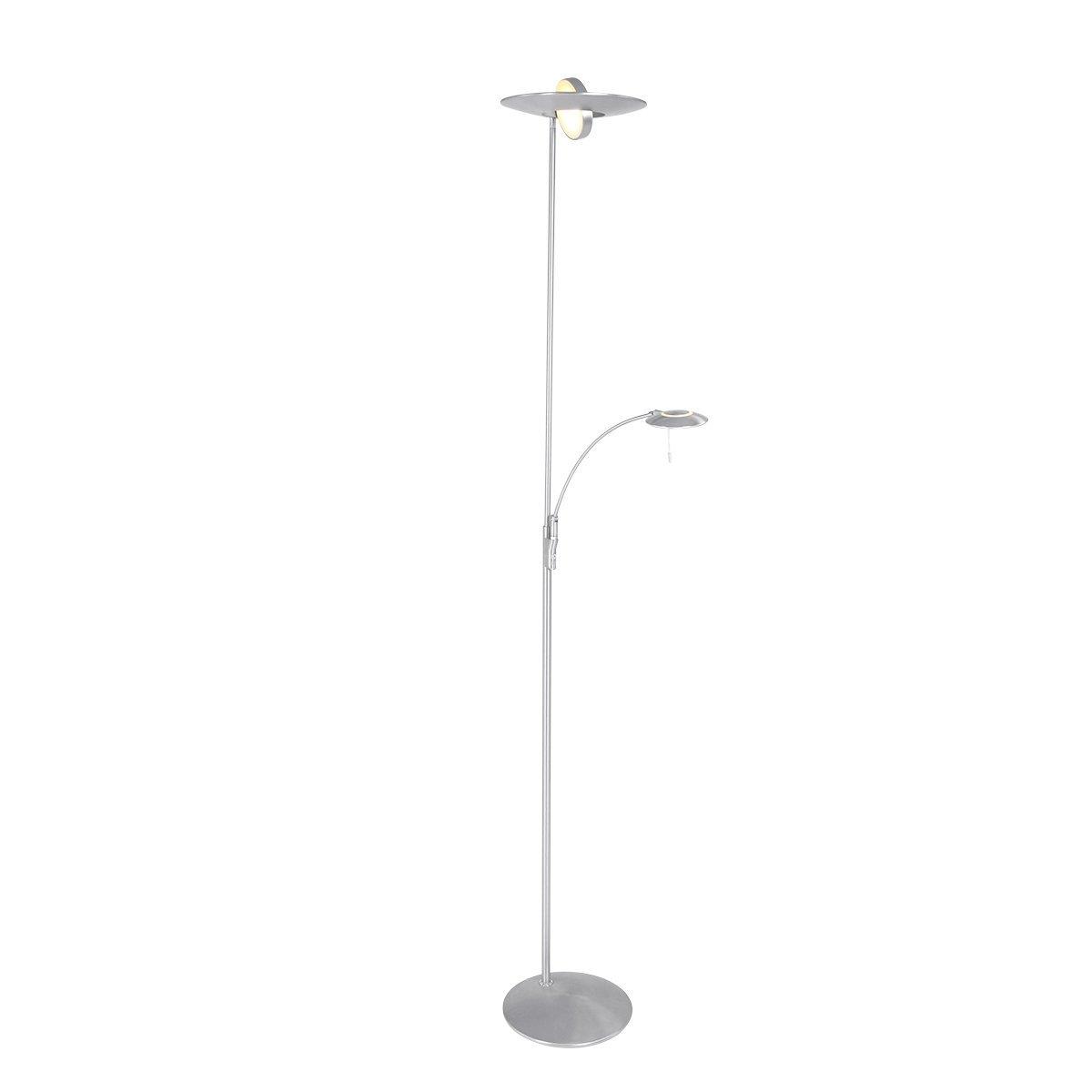 Vloerlamp Steinhauer Zenith Staal Uplight Met Leesarm