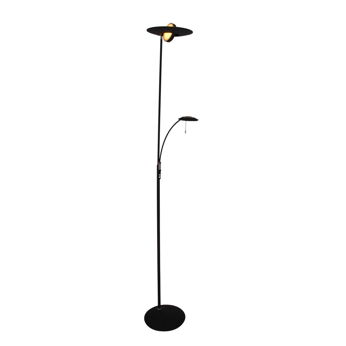 Vloerlamp Steinhauer Zenith Zwart Uplight Met Leesarm