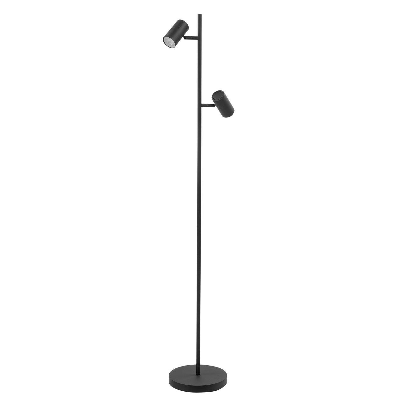 Vloerlamp Highlight Burgos Zwart Dubbel