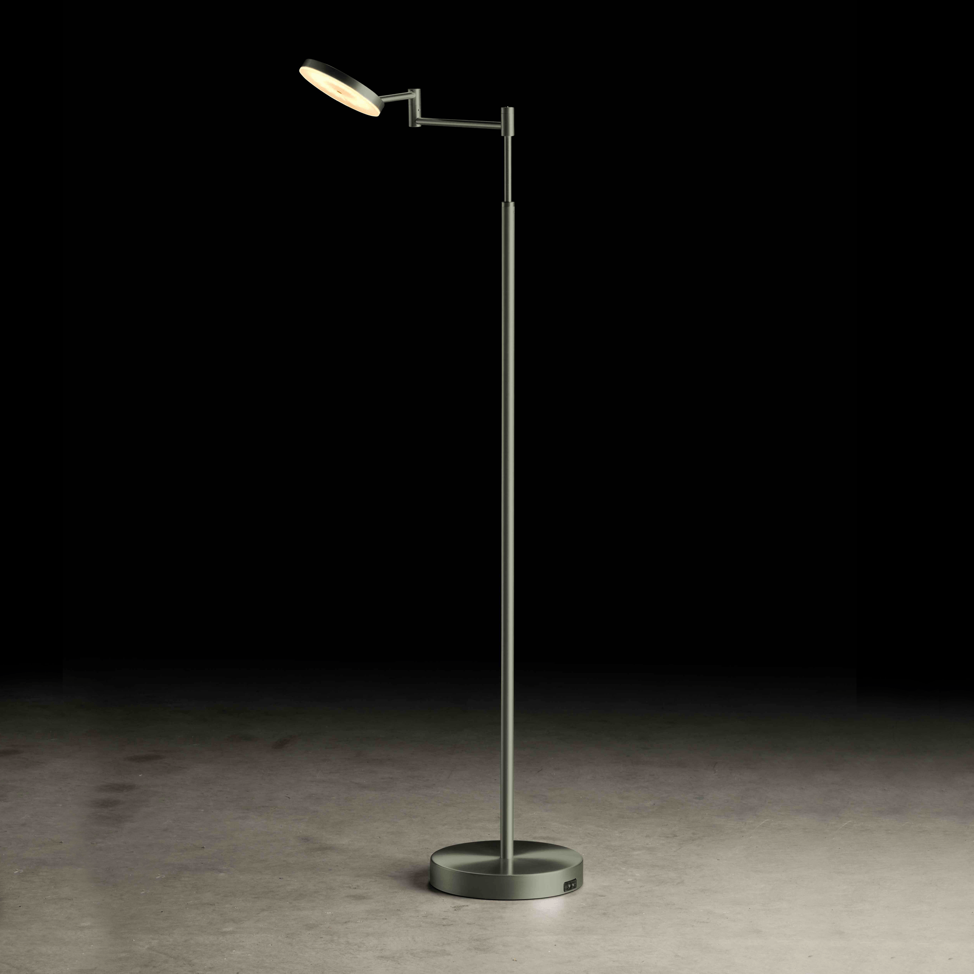 Vloerlamp Holtkotter Plano Akku Platin