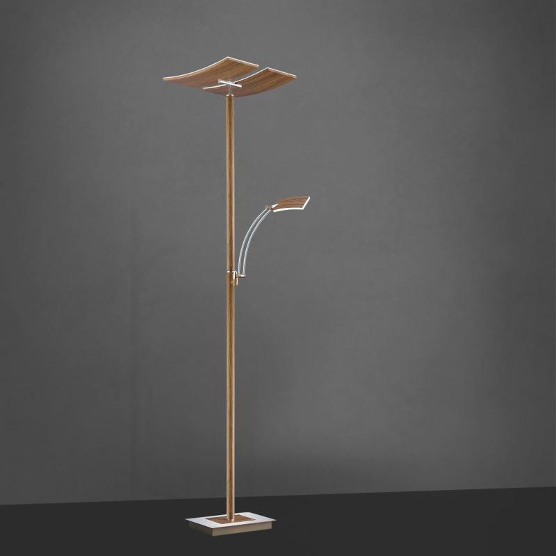 Vloerlamp Houtlook Met Leesarm