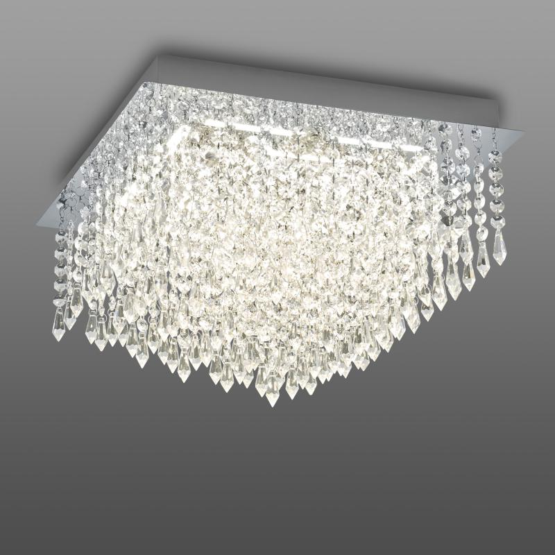 Plafondlamp Palace Chroom Vierkant Met B-Link Dimmer