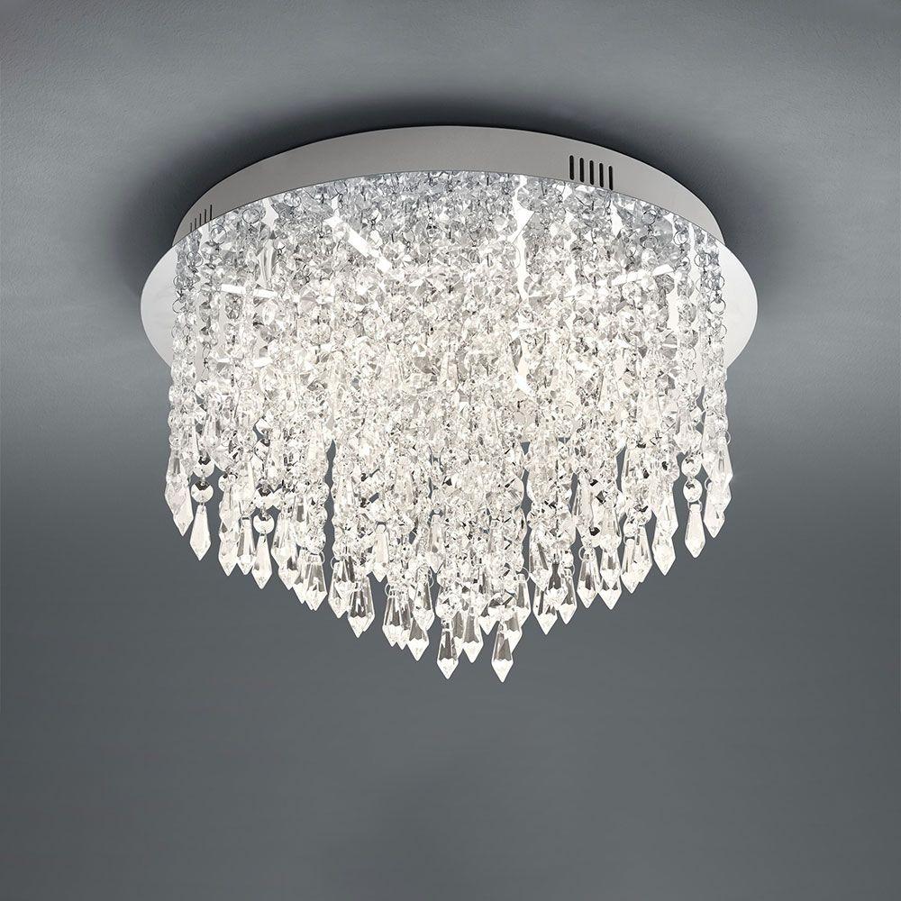 Plafondlamp Palace Chroom Rond Met B-Link Dimmer