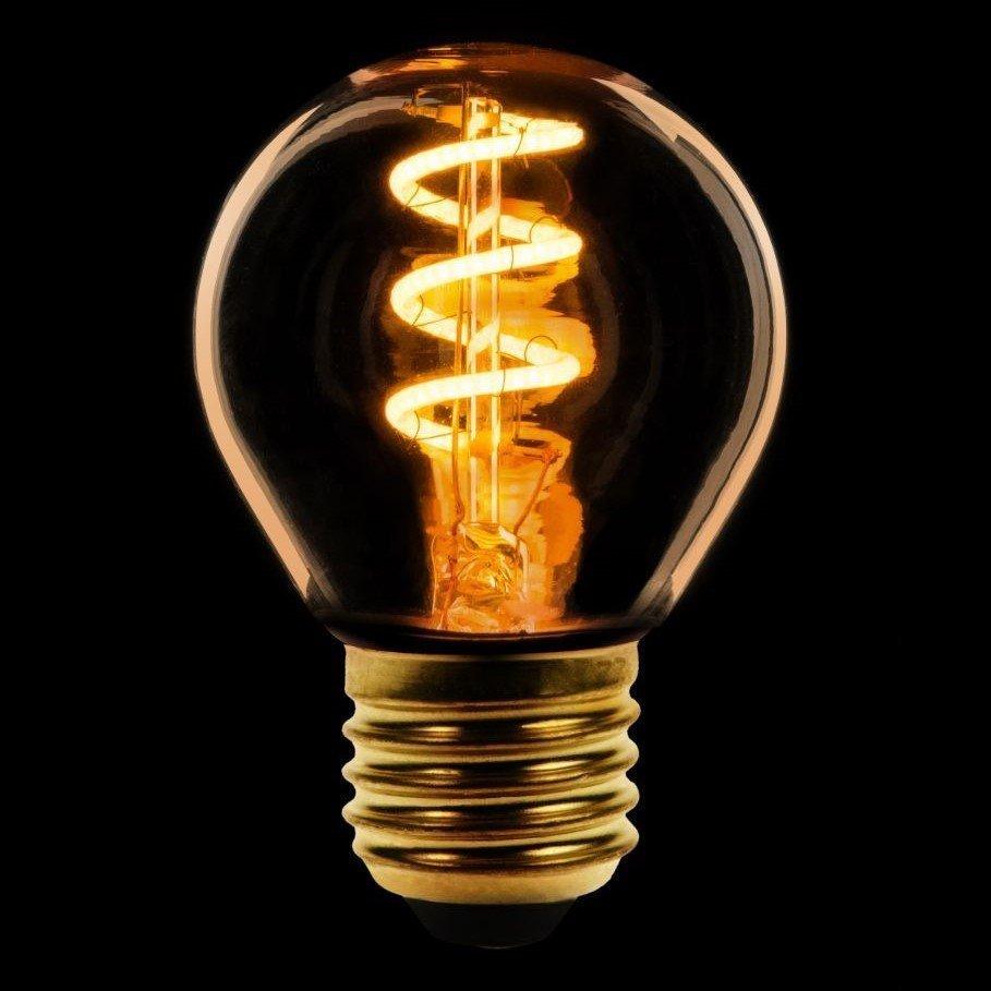 Dimbare Ledlamp 3Standen Goud Kogel Grote Fitting