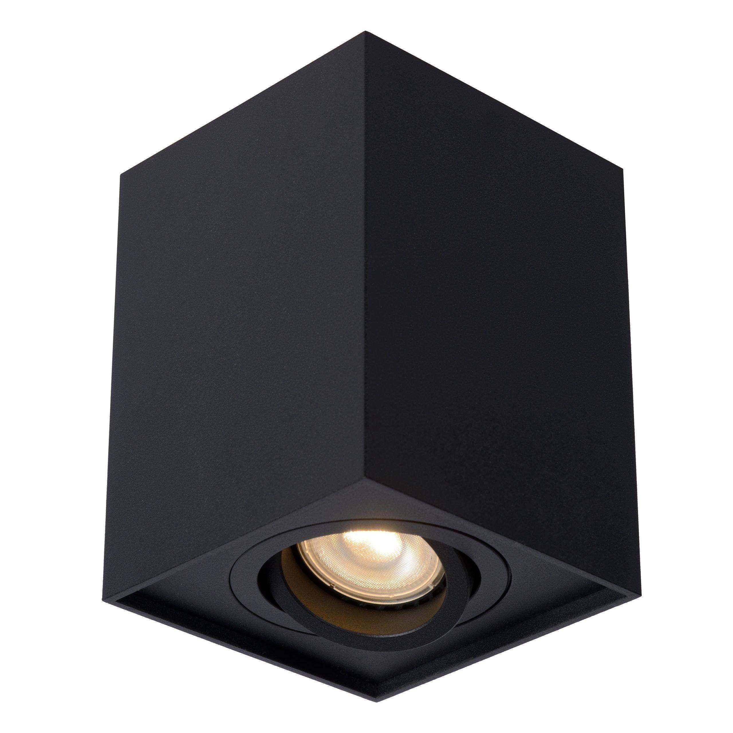 Opbouwspot Lucide Tube Rechthoek Zwart