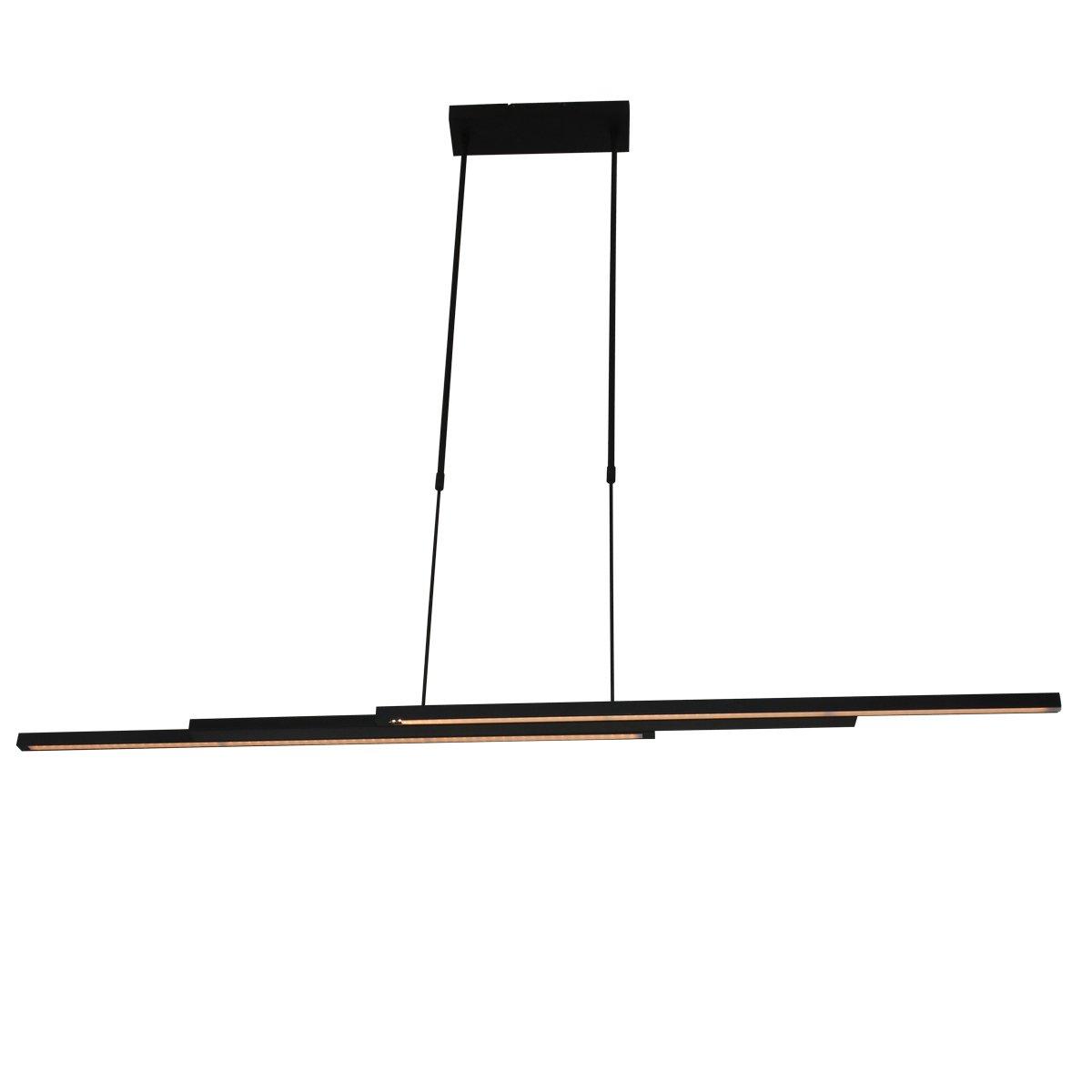 Hanglamp Steinhauer Motion Zwart Uitschuifbaar
