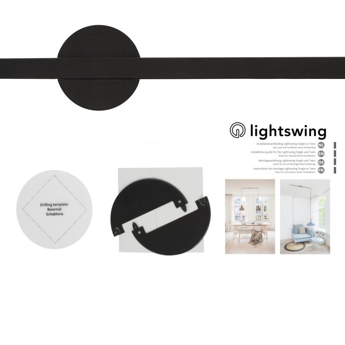 Lamp in plaats van een kabelgoot