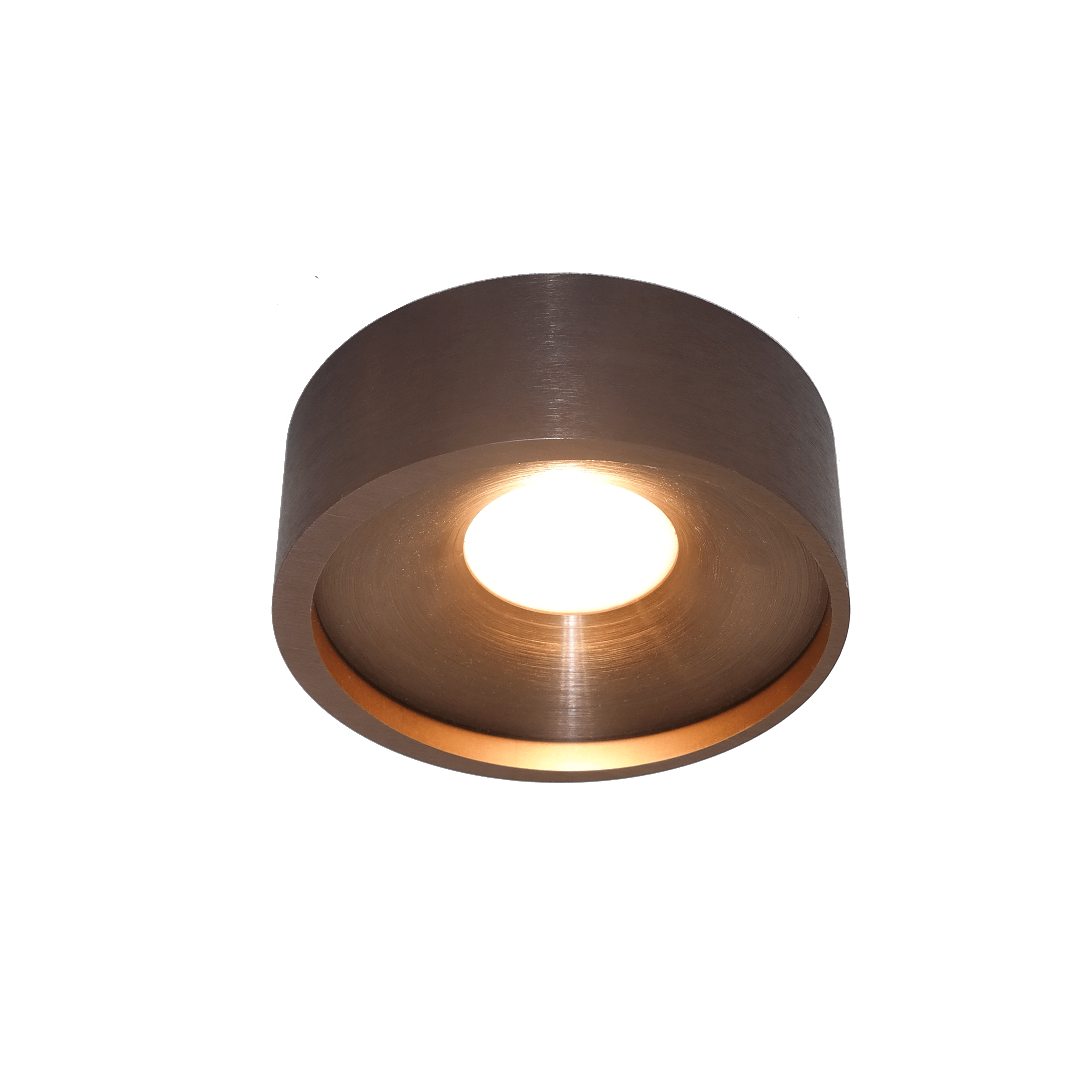 Plafondlamp Orlando Geborsteld Brons