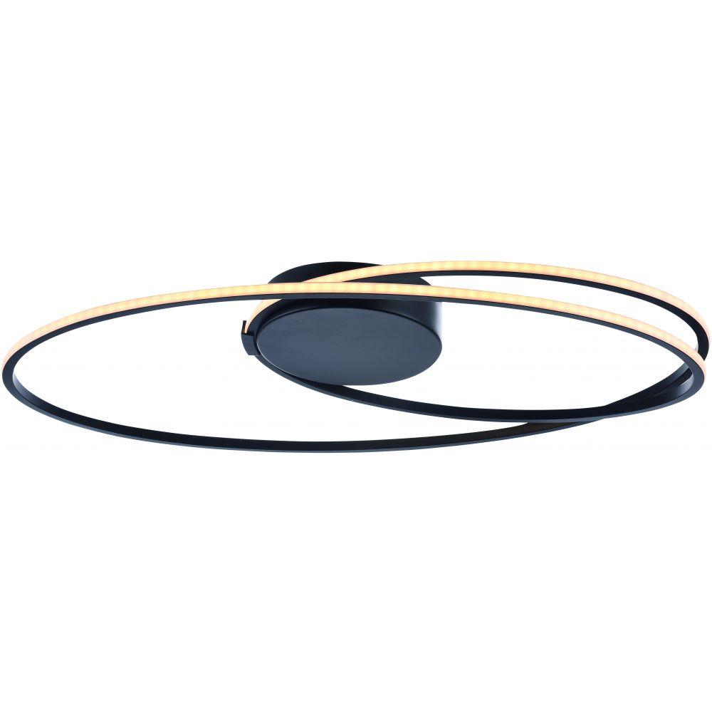 Plafondlamp Freelight Ophelia Zwart Ovaal Groot