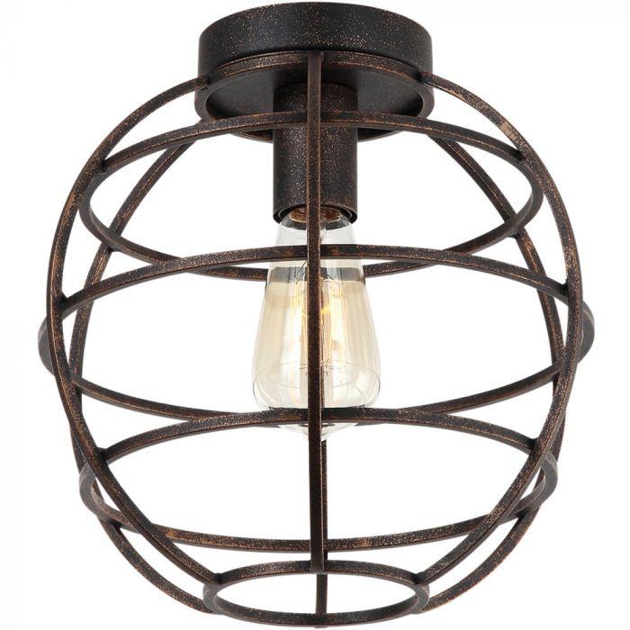 Plafondlamp Freelight Pianeta Bruin/Goud