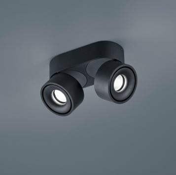 Plafondspot Rota 2L Zwart