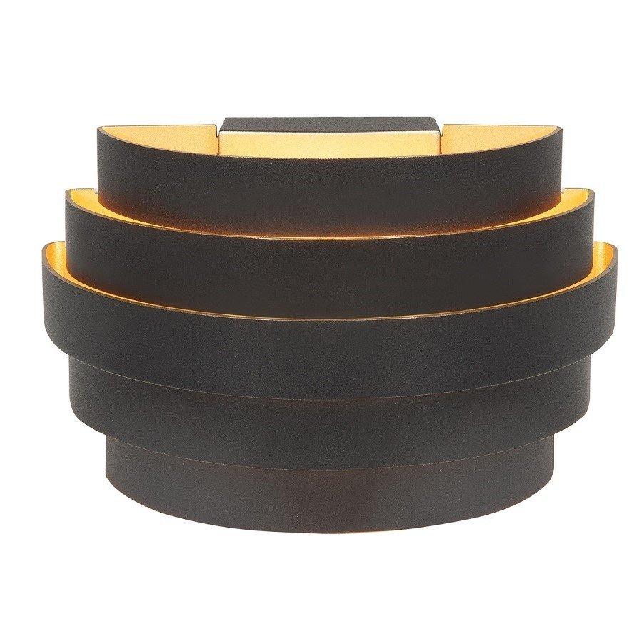 Wandlamp Top/Down Scudo 20CM Zwart Goud