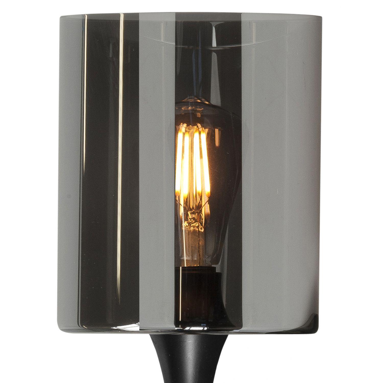 Wandlamp met rookglas