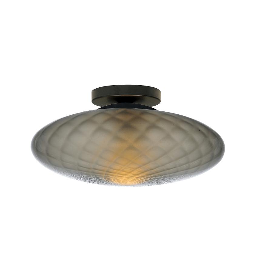 Plafondlamp Masterlight Bottega Smoke Glass 30CM