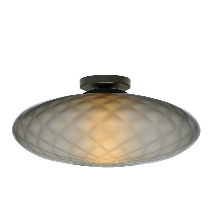 Plafondlamp Masterlight Bottega Smoke Glass 40CM