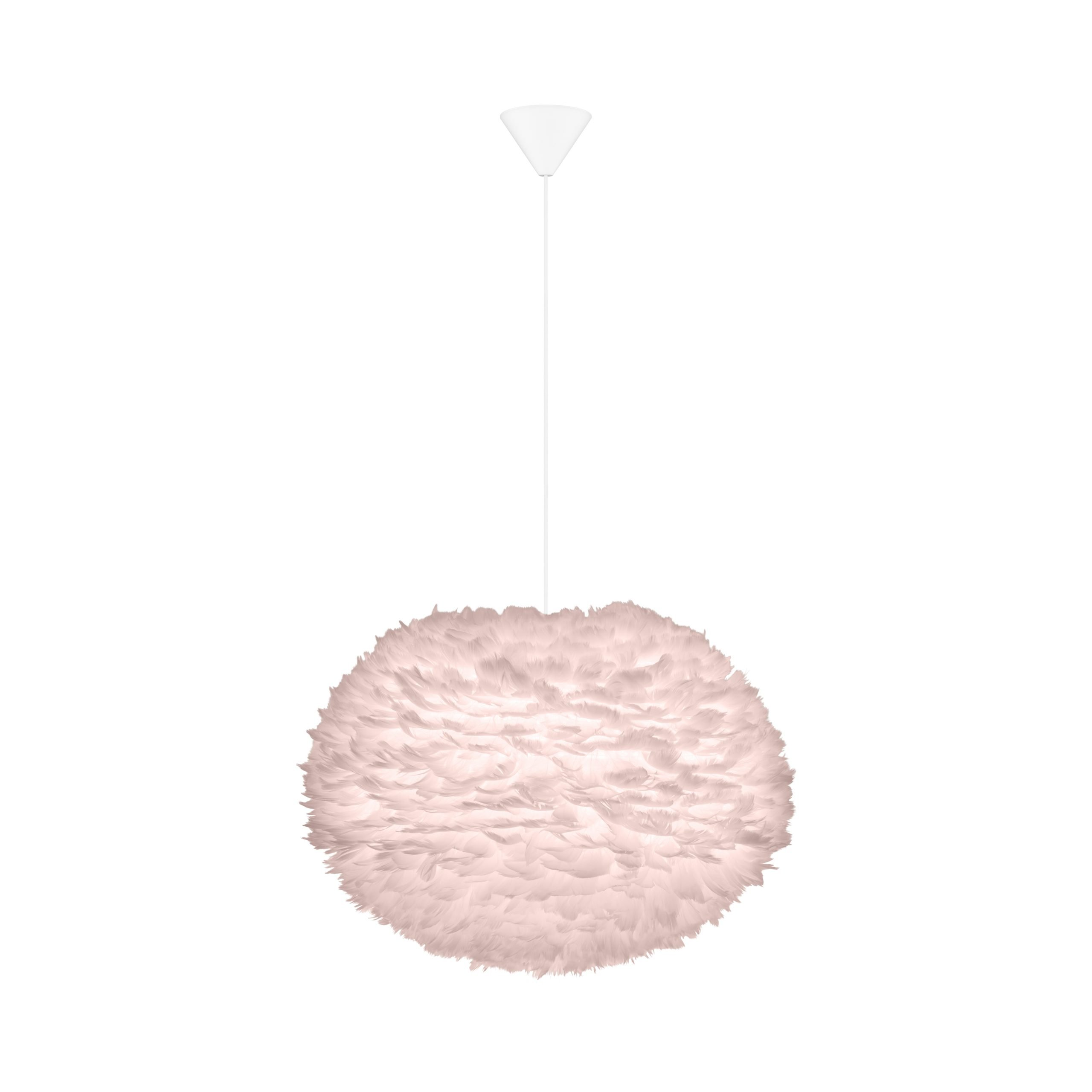 Hanglamp Umage Eos Licht Roze 65cm Large Inclusief Cordset Wit